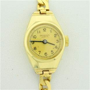 Vintage Universal Geneve Womens Self Wind Wrist Watch