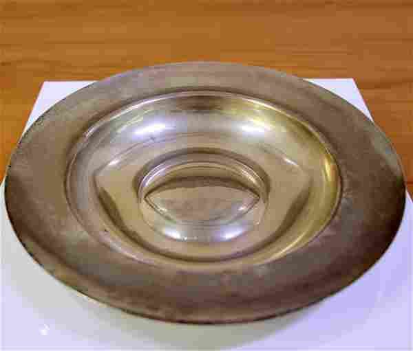 Tiffany & CO 8.25 Inch Sterling Silver Rimmed Bowl