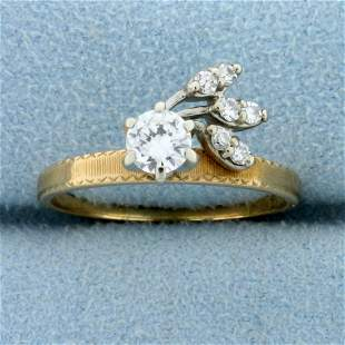 Vintage 1/2 ct Diamond Ring in Unique Setting in 14k