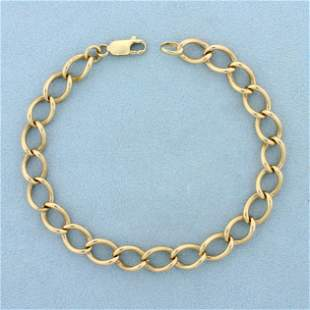 Twisted Curb Link Bracelet in 14K Yellow Gold