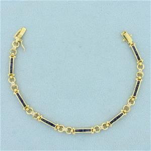 Levian Designer Sapphire and Diamond Bracelet in 18K