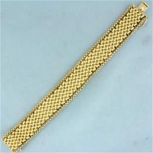 Designer Woven Design Bracelet in 14K Yellow Gold