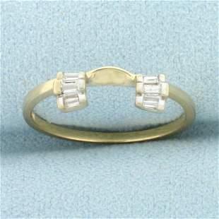 Baguette Diamond Ring Jacket in 10K Yellow Gold