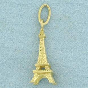 Eiffel Tower Charm or Pendant in 18K Yellow Gold