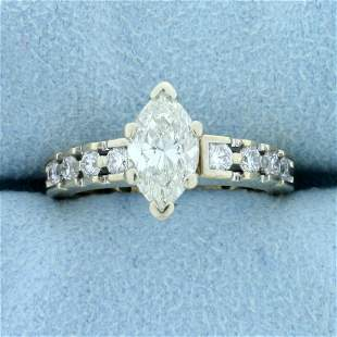 1 1/2 ct TW Marquise Diamond Engagement Ring in 14k
