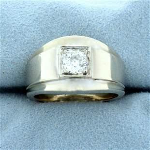 Antique Old European Cut 2/3ct Solitaire Diamond Ring