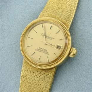 Omega Constellation Automatic Wrist Watch In Solid 18K