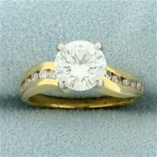 2ct TW Diamond Engagement Ring in 14K Yellow and White