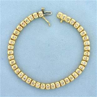 2ct TW Diamond Line Bracelet in 14K Yellow Gold