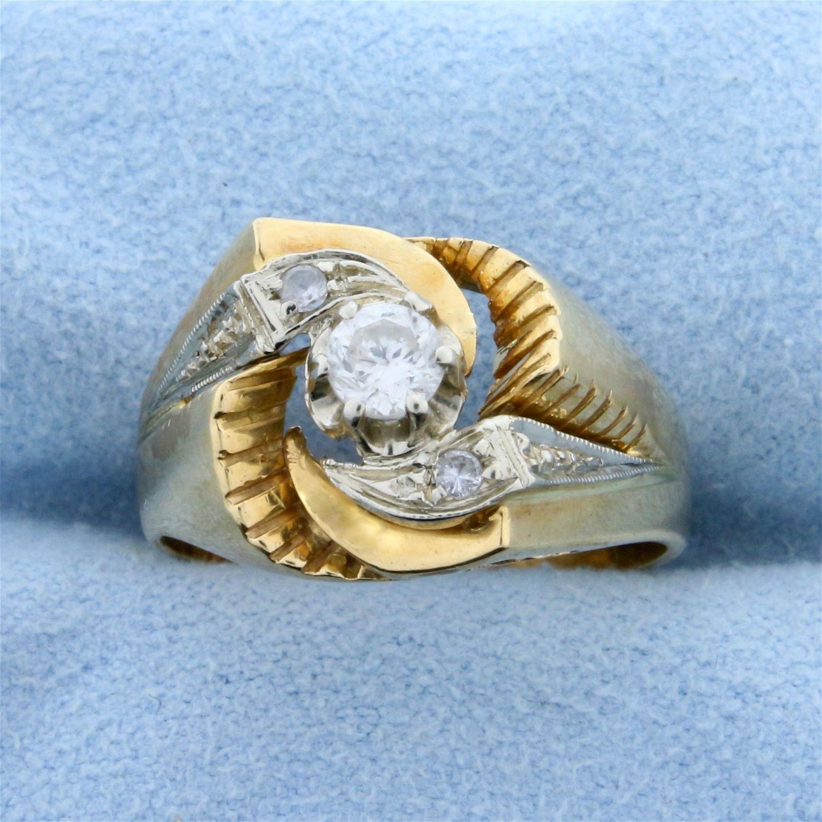 Unique Custom Designed Vintage .3ct TW Diamond Ring in