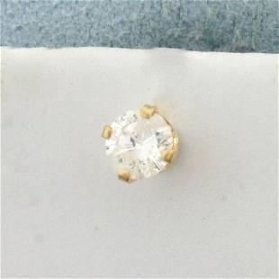 1/3ct Single Diamond Stud Earring in 14K Yellow Gold