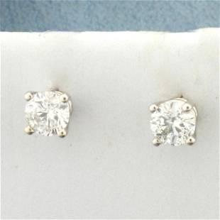 1/2ct TW Diamond Stud Earrings in 14K White Gold