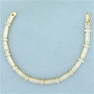 5ct TW CZ Tennis Bracelet in Gold Plated Sterling