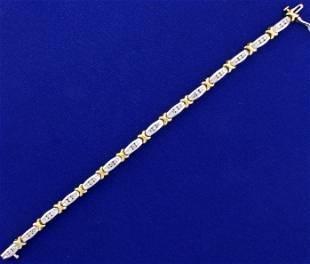 1.25ct TW Diamond Tennis Bracelet in 14k White and