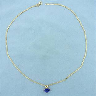 1.5ct Tanzanite Serpentine Link Necklace in 14k Yellow