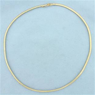 16 Inch Omega Link Necklace In 14K yellow gold