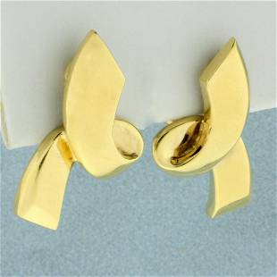 Authentic Tiffany & Co. Paloma Picasso Ribbon Earrings