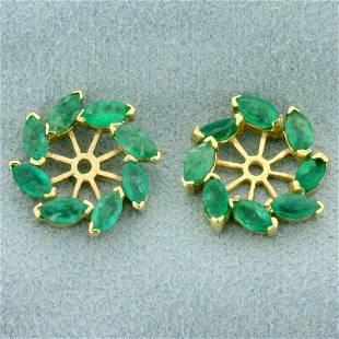 1.5ct TW Emerald Stud Earring Enhancers in 14K Yellow