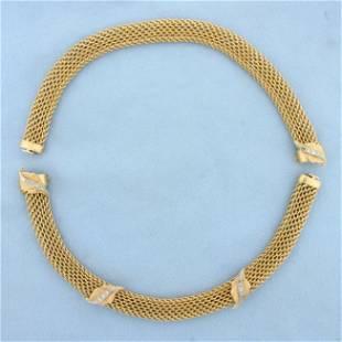 Designer Combination Diamond Choker Necklace Double
