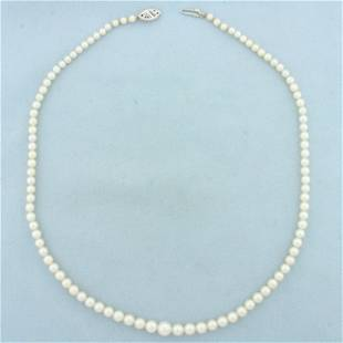 17 Inch Graduated Cultured Pearl Necklace