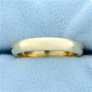 Mens Comfort Fit Wedding Band Ring in 14K Yellow Gold