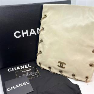 Authentic Chanel Crossbody Bag Pearlescent Winter White