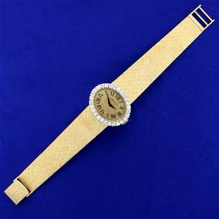 womens Vintage Lucien Piccard Diamond Watch in Solid