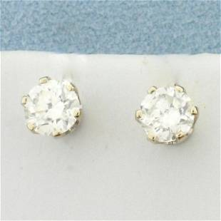 1.25ct TW Diamond Stud Earrings with in 14K White Gold