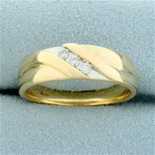 Diamond Wedding or Anniversary Band Ring in 10K Yellow