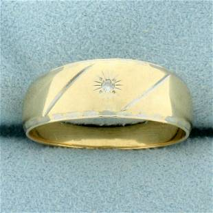 Mens Diamond Band Ring in 14K Yellow Gold