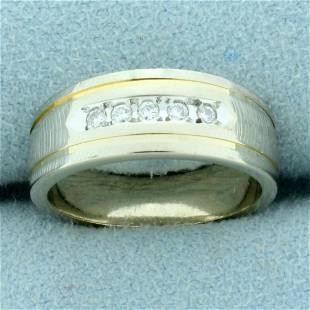 Diamond Wedding Band Ring in 14K White Gold
