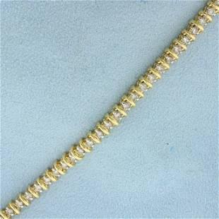 2ct TW Champagne Diamond Tennis Bracelet in 14K Yellow
