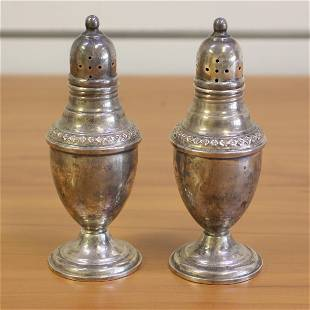 Rogers Sterling Silver Salt Shakers