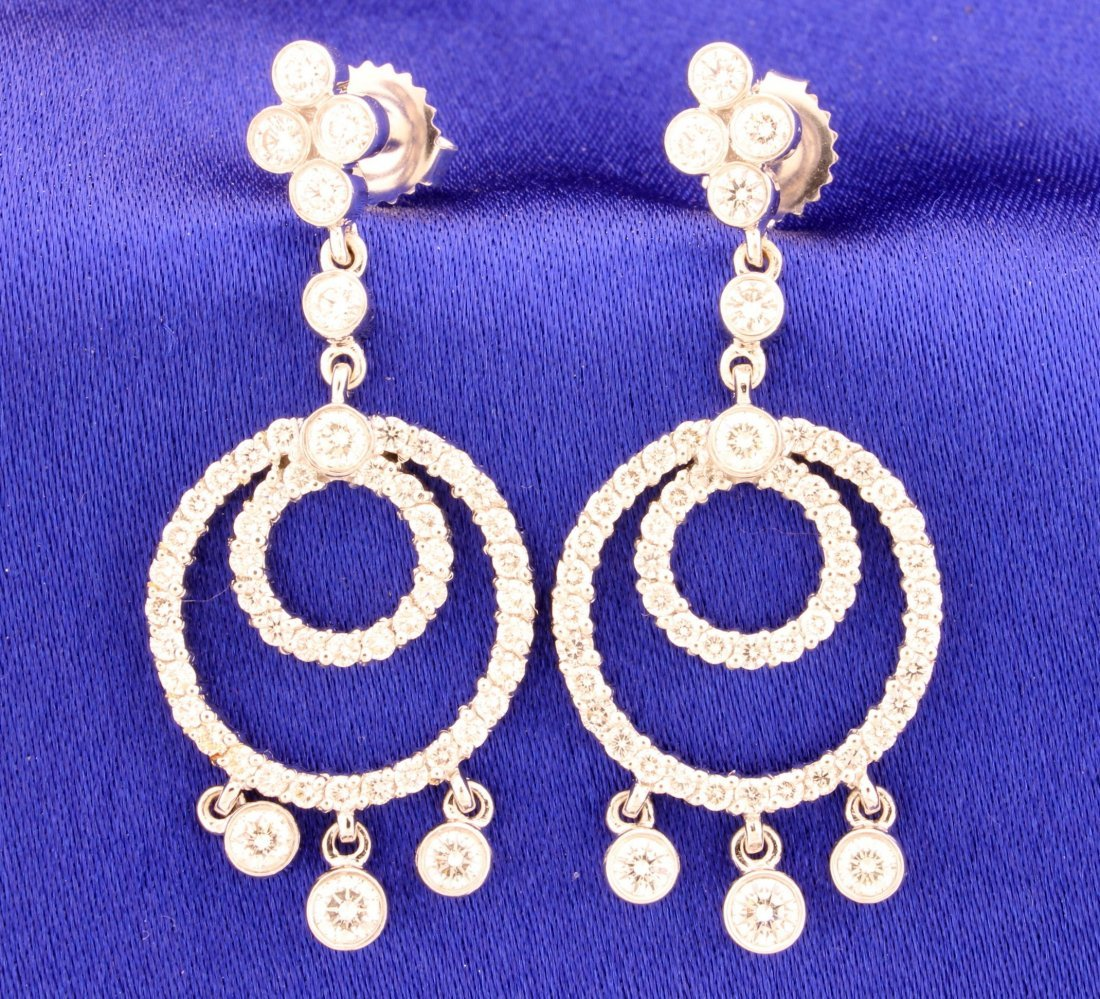 Designer 18k white gold Kwiat diamond chandelier