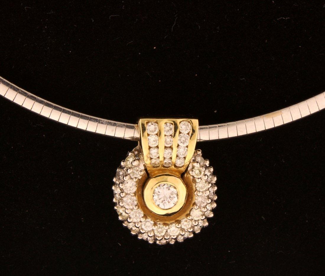 1.2 carat diamonds 14k yellow gold enhancer