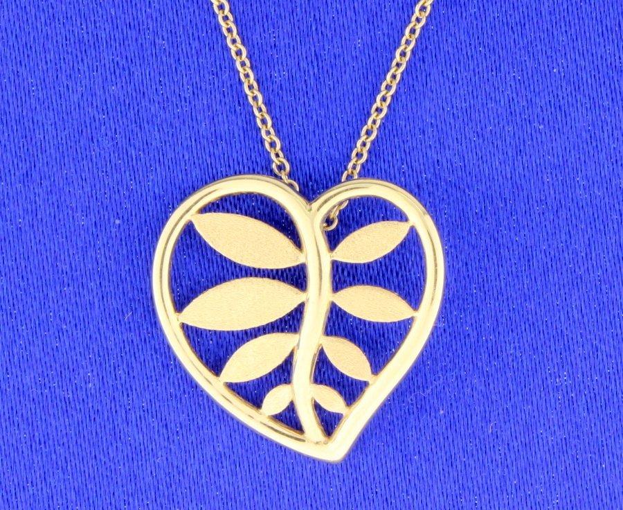 "Tiffany & Co 18k ""Heart Leaf"""