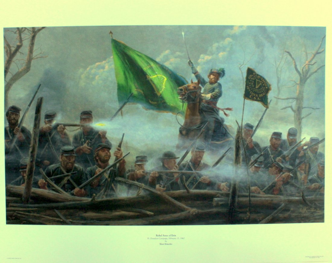 """Rebel Sons of Erin"" Mort Kunstler print"