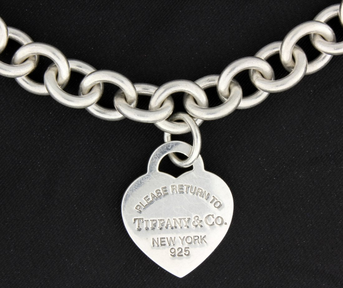Tiffany & Co Silver Removable Heart Lock Necklace