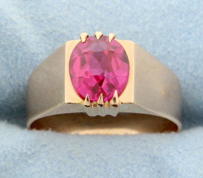 Vintage Pink Sapphire ring in Rose Gold