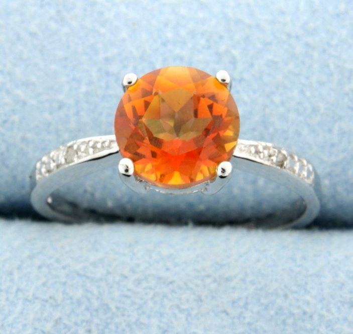 Azotic Topaz and diamond ring