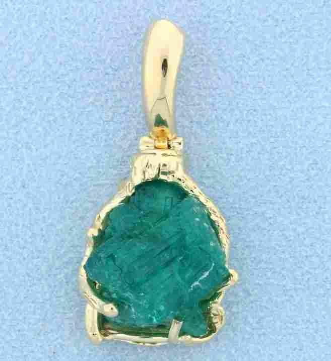 Emerald & Gold pendant