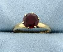 Vintage Lab Ruby Solitaire Ring