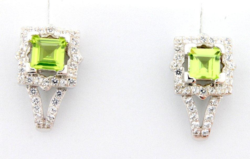 Peridot Sterling silver dangle earrings