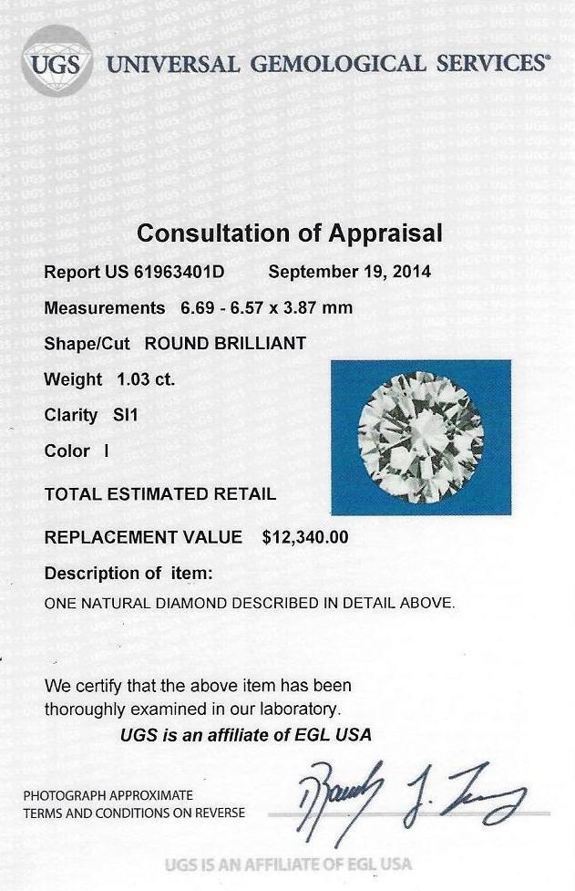 Certified Round Brilliant Cut Diamond