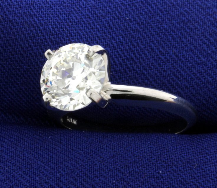 GIA Certified 2 1/2 ct Diamond Solitaire Ring in - 2