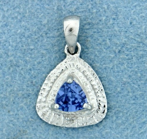 Tanzanite and diamond pendant with chain