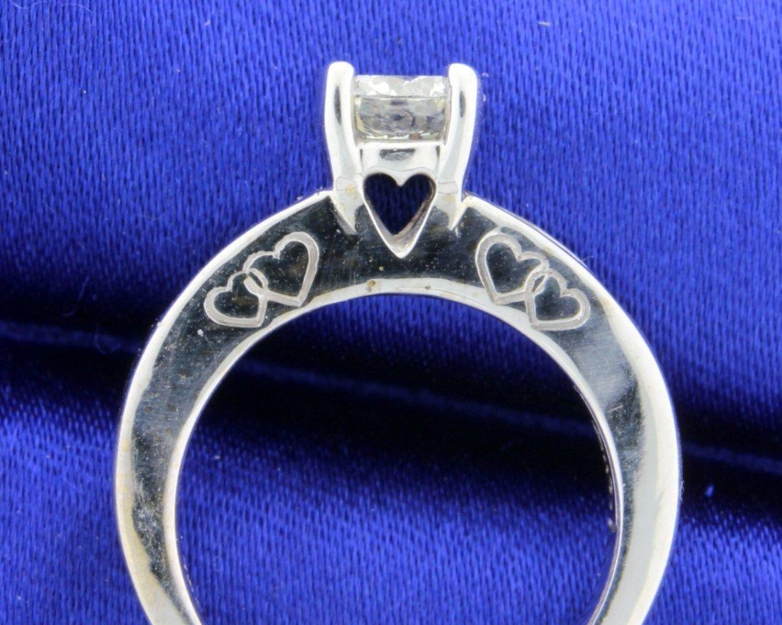1.18 CT 18k white gold diamond engagement ring - 3