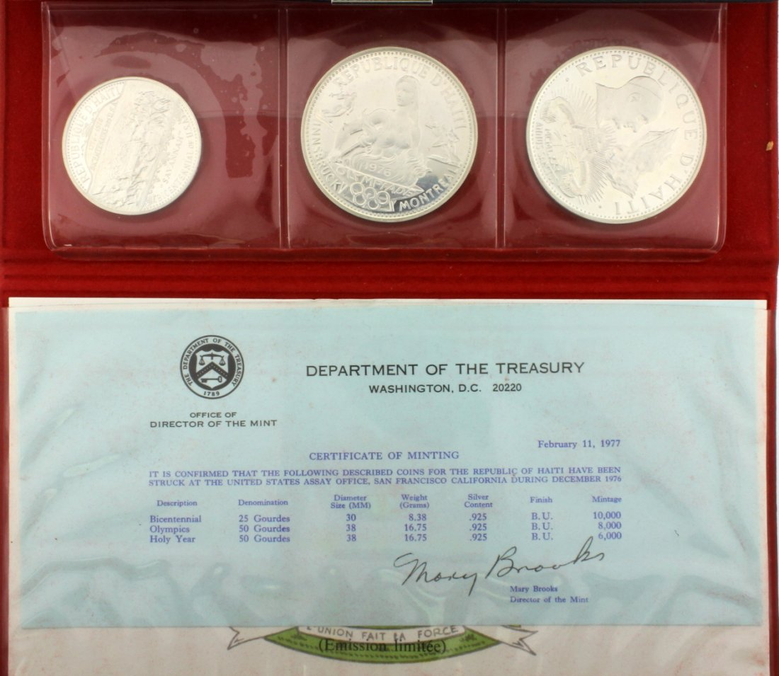 1976 Haiti Silver Proof Set