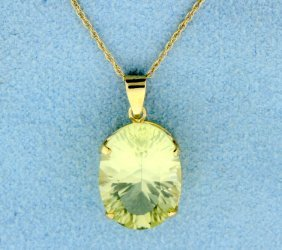 6 Carat Yellow Starburst Pendant With Chain