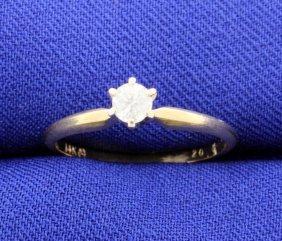 Diamond 1/5 Carat 14k Solitaire Ladies Ring